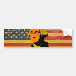 Adesivo De Para-choque Autocolante no vidro traseiro de George Washington