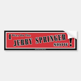 Adesivo De Para-choque Autocolante no vidro traseiro de Jerry Springer