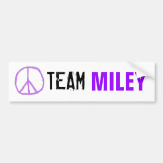 Adesivo De Para-choque Autocolante no vidro traseiro de Miley da equipe