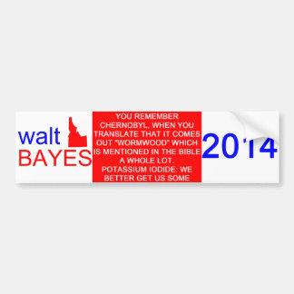 Adesivo De Para-choque Autocolante no vidro traseiro de Walt Bayes
