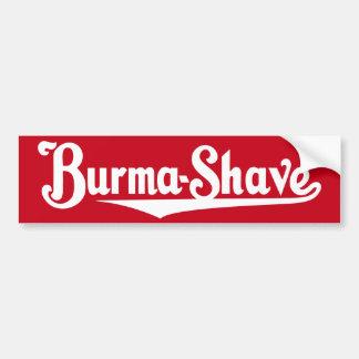 Adesivo De Para-choque Autocolante no vidro traseiro do Burma-Shave
