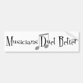 Adesivo De Para-choque Autocolante no vidro traseiro do dueto (notas)