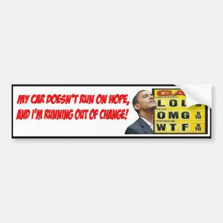 Adesivo De Para-choque Autocolante no vidro traseiro do gás de Obama