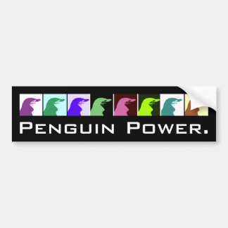 Adesivo De Para-choque Autocolante no vidro traseiro do poder do pinguim