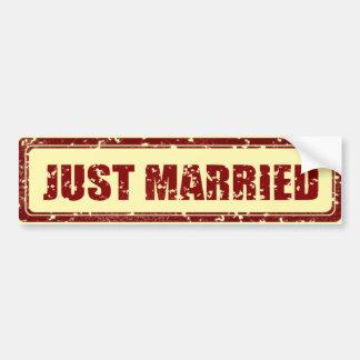 Adesivo De Para-choque Autocolante no vidro traseiro do recem casados