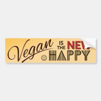 Adesivo De Para-choque Autocolante no vidro traseiro do Vegan