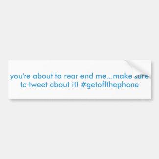 Adesivo De Para-choque autocolante no vidro traseiro engraçado do twitter