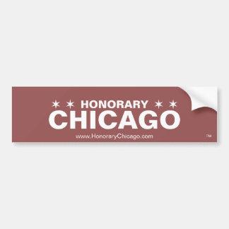 Adesivo De Para-choque Autocolante no vidro traseiro honorário de Chicago