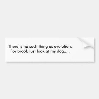 Adesivo De Para-choque Autocolante no vidro traseiro irónico da evolução