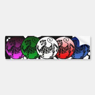 Adesivo De Para-choque Autocolante no vidro traseiro multicolorido