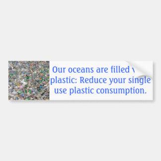 Adesivo De Para-choque Autocolante no vidro traseiro plástico da poluição