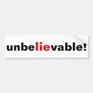 Adesivo De Para-choque Autocolante no vidro traseiro político da mentira