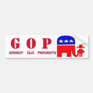 Adesivo De Para-choque Autocolante no vidro traseiro republicano do GOP