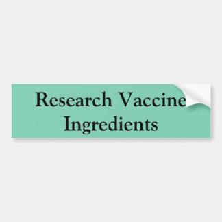 Adesivo De Para-choque Autocolante no vidro traseiro vacinal