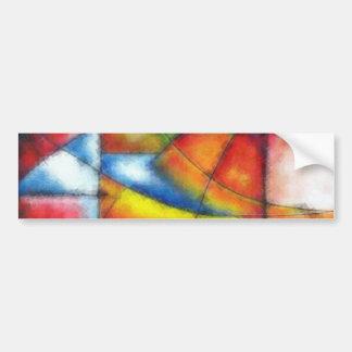 Adesivo De Para-choque azul vermelho do verde amarelo da pintura abstrata