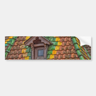 Adesivo De Para-choque azulejos de telhado com cor em Obernai - Alsácia -