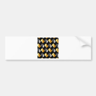 Adesivo De Para-choque Azulejos do ouro e da prata