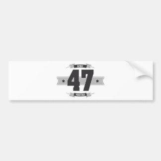 Adesivo De Para-choque B-dia 47 (Dark&Lightgrey)