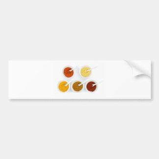 Adesivo De Para-choque Bacias da porcelana com as várias especiarias