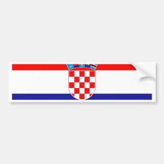 Adesivo De Para-choque Baixo custo! Bandeira croata