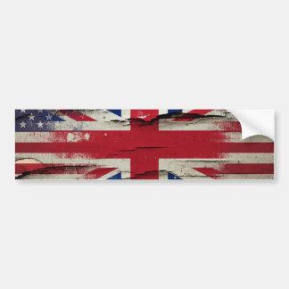 Adesivo De Para-choque Bandeira americana britânica da pintura | do
