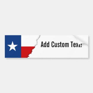 Adesivo De Para-choque Bandeira clássica do estado de Texas