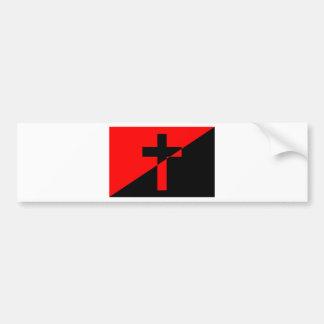 Adesivo De Para-choque Bandeira cristã da cristandade da anarquia do