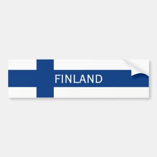 Adesivo De Para-choque Bandeira da bandeira transversal azul de Finlandia