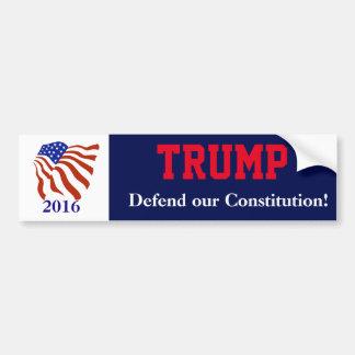 Adesivo De Para-choque Bandeira da constituição de Donald Trump