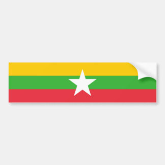Adesivo De Para-choque Bandeira de Burma