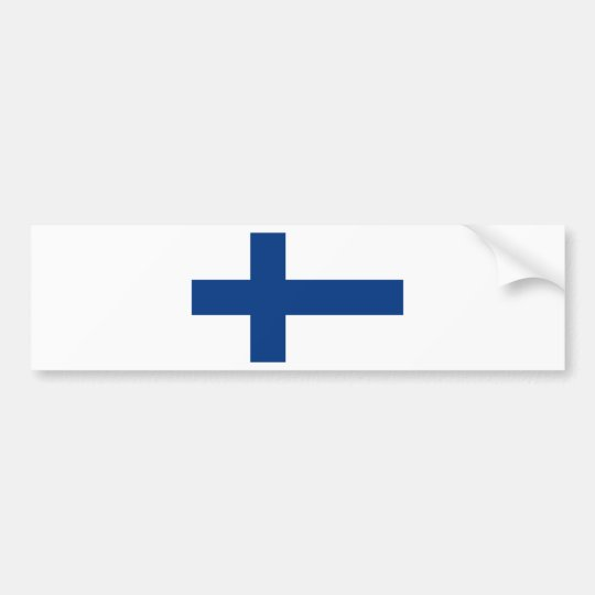 Adesivo De Para-choque Bandeira de Finlandia (lippu de Suomen, flagga de