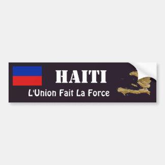 Adesivo De Para-choque Bandeira de Haiti + Autocolante no vidro traseiro