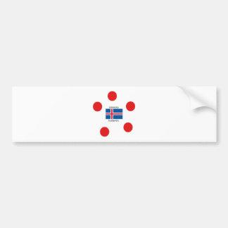 Adesivo De Para-choque Bandeira de Islândia e design islandês da língua