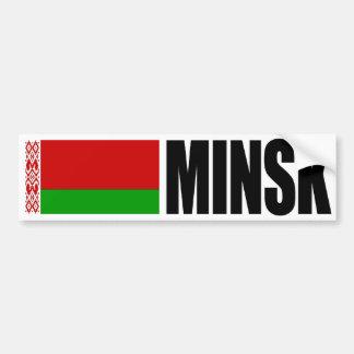 Adesivo De Para-choque Bandeira de Minsk Belarus