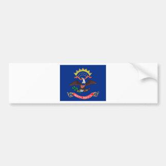 Adesivo De Para-choque Bandeira de North Dakota