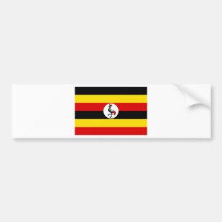 Adesivo De Para-choque Bandeira de Uganda