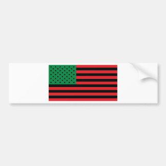 Adesivo De Para-choque Bandeira do afro-americano - preto e verde