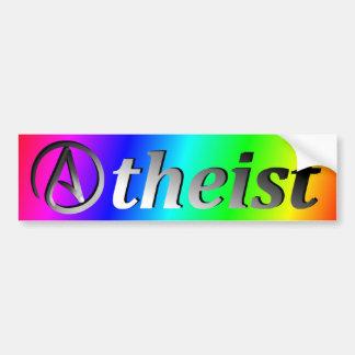 Adesivo De Para-choque Bandeira do ateu do arco-íris