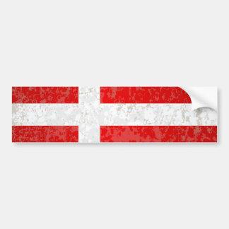 Adesivo De Para-choque Bandeira do Grunge de Dinamarca