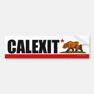 Adesivo De Para-choque Bandeira do urso de CALEXIT Califórnia