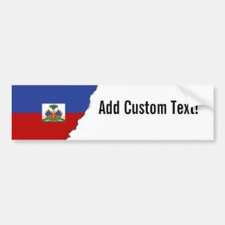 Adesivo De Para-choque Bandeira haitiana clássica
