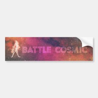 Adesivo De Para-choque Batalha cósmica