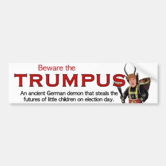 Adesivo De Para-choque Beware o Trumpus!  Grande Trumpus