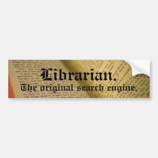 Adesivo De Para-choque Bibliotecário