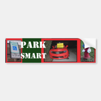 Adesivo De Para-choque Bilhete de Smart do parque