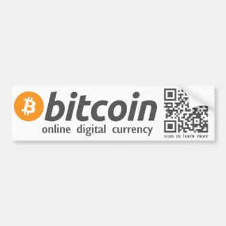 Adesivo De Para-choque Bitcoin - código em linha da etiqueta QR da moeda
