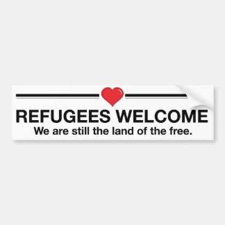 Adesivo De Para-choque Boa vinda dos refugiados