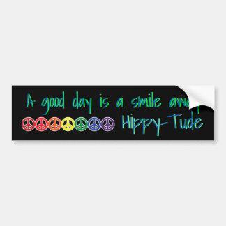 Adesivo De Para-choque Bom dia de Hippytude a sorrir