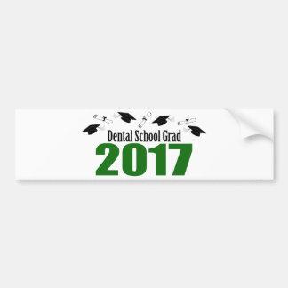 Adesivo De Para-choque Bonés do formando 2017 da escola dental e diplomas