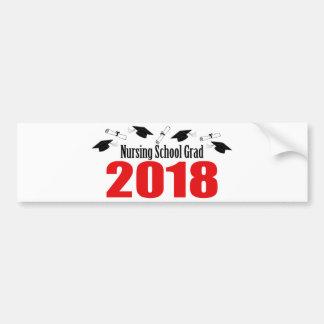 Adesivo De Para-choque Bonés e diplomas do formando 2018 da escola de